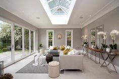 The kitchen/breakfast room opens into the charming garden room in this magnificent six bedroom home in Ascot. The kitchen/breakfast room opens into the charming garden room in this magnificent six bedroom home in Ascot.