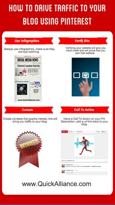 How To Drive Traffic To Your Blog Using Pinterest #INFOGRAPHIC http://www.quickalliance.com/how-to-drive-traffic-to-your-blog-using-pinterest/