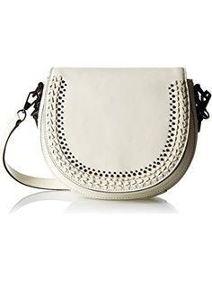 Rebecca Minkoff Astor Saddle Bag with Studs, Antique White ❤ Rebecca Minkoff Rebecca Minkoff Handbags, Saddle Bags, Gifts For Women, Studs, Antique, Sling Bags, Spikes, Ear Gauge Plugs, Antiques