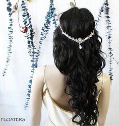 Wedding headpiece wedding headband wedding hair by HairFloaters