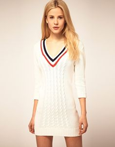 ASOS Cricket Sweater Dress // $71.62 -- I LOVE tennis sweaters!