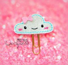 CLOUD Glitter Paper Clip by LittleMissDaisyrose on Etsy
