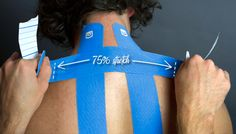 STRENGTHTAPE: Easy to follow instructions for Neck Pain/Strain kiesiology tape application.