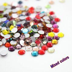 패션 혼합 색상 반짝이 혼합 색상 SS3-SS30 3D 네일 아트 장식 비 핫픽스 Flatback 모조 다이아몬드 DIY 피팅