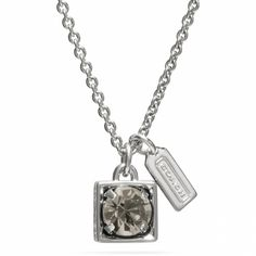 The Beveled Square Pendant Necklace from Coach