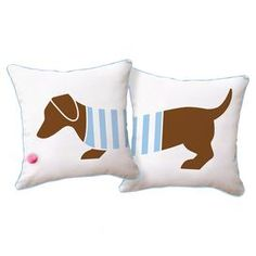 Playful Doxie Pillow