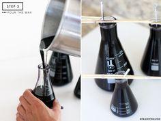 ++ make your own beaker candles || www.fashionlush.com ++