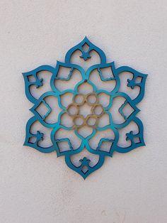 Mandala Moroccan Wall Art Indian Decor Flower Mandala Window Decor Wood Wall Art Mandala Decor Lotus Art Star Of David Decor Yoga Moroccan Wall Art, Moroccan Decor Living Room, Morrocan Decor, Indian Wall Art, Moroccan Tiles, Moroccan Bathroom, Moroccan Lanterns, Moroccan Interiors, Mandala Art