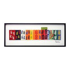 OLUNDA quadro, composição (Les Velours) Largura: 103 cm Altura: 39 cm