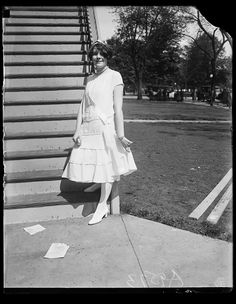 Miss Katherine A. Young of Valley City, North Dakota, D.A.R. page, at the D.A.R. Auditorium, Washington, D.C. 1925