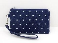 Mini Heart iPhone Wristlet Zipper Pouch Small by ZestyNotion
