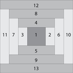 Make Easy Courthouse Steps, a Log Cabin Quilt Block Variation