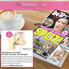 Comment below if you spotted Hidden Crown Hair Extensions in the #September issue of Intouch Magazine?!