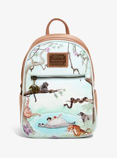 Loungefly Disney The Jungle Book Mini Backpack – BoxLunch Exclusive – Purses And Handbags Boho Disney Handbags, Disney Purse, Cute Handbags, Purses And Handbags, Luxury Handbags, Cheap Handbags, Fall Handbags, Fossil Handbags, The Jungle Book