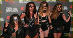 Little Mix Dress Up As Kiss For KISS FM's Haunted House Party: Photo #886508. Little Mix completely nail their group Kiss Halloween costume for KISS FM's Haunted House Party held at the SSE Arena on Thursday night (October 29) in London,…