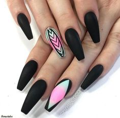 In search for some nail designs and ideas for your nails? Listed here is our list of 24 must-try coffin acrylic nails for fashionable women. Fabulous Nails, Gorgeous Nails, Love Nails, Pretty Nails, Fun Nails, Edgy Nails, Grunge Nails, Acrylic Nails Coffin Ballerinas, Acrylic Toe Nails