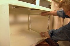 How to: make pull out shelves for cabinets