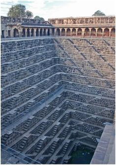 Well of Chand Baori, India. Thirty metres deep, 13 floors, 3,500 steps.