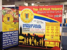 The Halal Guys using custom banners at the International Franchise Expo at the Javits Center #IFE2014 #TheHalalGuys #nyc