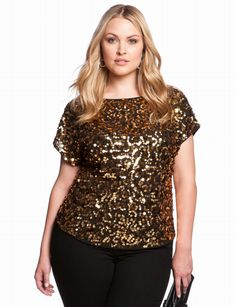 All Over Sequin Blouse | Plus Size Tops & Shirts | eloquii by THE LIMITED