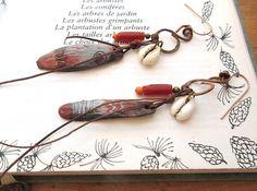 Les boucles d'oreille ethniques de style par annemarietollet
