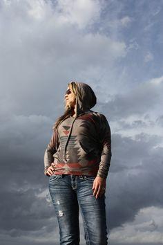 Brown Tribal Aztec Hoodie Pullover ,  (http://www.thetexascowgirl.com/brown-tribal-aztec-hoodie-pullover/)
