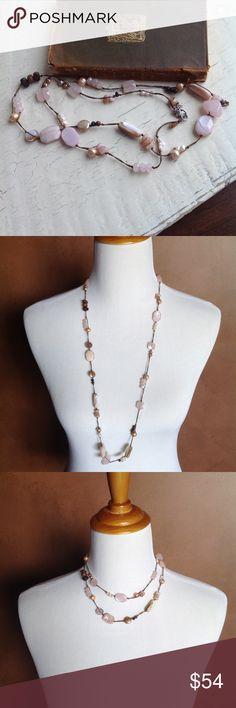 HP wedding season styleSilpada necklace Double the strand or wear it long, rose colored, semi precious stones. Silpada Jewelry Necklaces