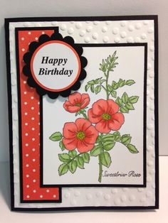 Sweetbriar Rose, Birthday Card, Get Well Card, Thinking of You Card, Stampin' Up!, Rubber Stamping, Handmade Cards