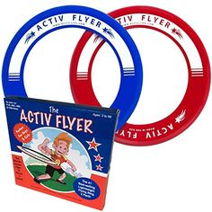 Best Kids Frisbee Ring 2 Pack: Perfect Birthday Gift and Christmas Present for Boys and Girls. Cool Outdoor Family Fun at Pool Beach School Playground Park Backyard BBQ - Ultralight Design Does Not Hurt Fingers - Activ Flyers are Made in the USA ** You can find more details by visiting the image link.