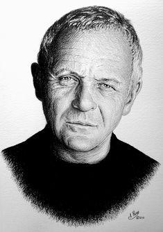 Anthony Hopkins Pencil drawing