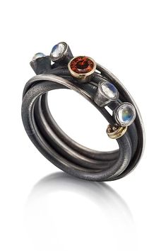 Vine Ring by Christine MacKellar: Silver and Stone Ring available at www.artfulhome.com