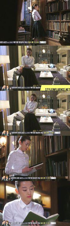 jeon ji hyun you who came from the stars fashion dress black skirt [Korean Drama Fashion] My Love From Another Star, Jun Ji Hyun – Long Slee...