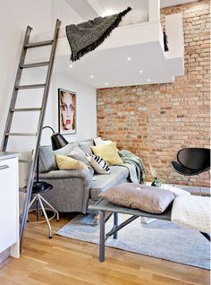 Pinterest the world s catalog of ideas White walls and exposed brick go minimalist in this couple s retreat