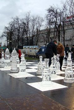 Ice Chess-- awesome... just when I thought my favourite game couldn't get any cooler ;)