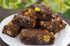 In the Kitchen with Jenny: Peanut Butter Candy Bar Brownies