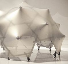 #tensile #structure Temporary Architecture, Architecture Drawings, Architecture Design, Tensile Structures, Tent Design, Parametric Design, Geodesic Dome, Geometric Wall, Machine Design