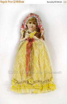 40% Off Sale Large Victorian Girl with by DresdenStarOrnaments