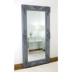 Floor mirrors – William Wood Mirrors Ornate Mirror, Wood Mirror, Extra Large Mirrors, Circular Mirror, Grey Flooring, Paint Finishes, Wooden Frames, Oversized Mirror, Solid Wood