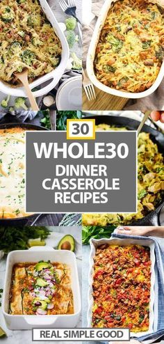 all your healthy comfort food desires covered here with these 30 healthy casseroles! 30 casserole dinner recipes to help with meal prep and to fill you up. Some spaghetti squash options plus lots of others featuring beef, tuna, chicken and more! Paleo Recipes, Whole Food Recipes, Whole 30 Easy Recipes, Whole 30 Chicken Recipes, Tuna Recipes, Noodle Recipes, Steak Recipes, Delicious Recipes, Cooking Recipes