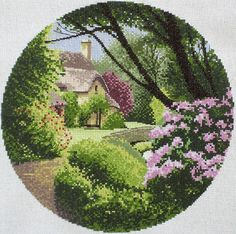 Secret Garden  - John Clayton - Completed Cross Stitch - CDA/US Free Shipping