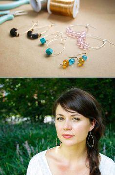 DIY: earrings hoops 3 ways