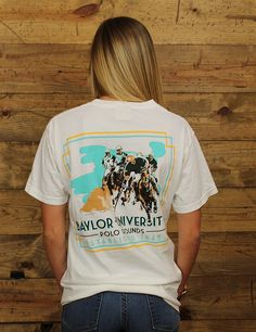 Hey Baylor- love polo grounds?! Then we have the perfect shirt for you, it's Comfort Colors! Rock this awesome shirt today!