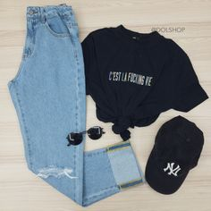 Cute Casual Outfits, Swag Outfits, Grunge Outfits, Stylish Outfits, Teen Fashion Outfits, Outfits For Teens, Tumblr Outfits, Teenager Outfits, Aesthetic Clothes