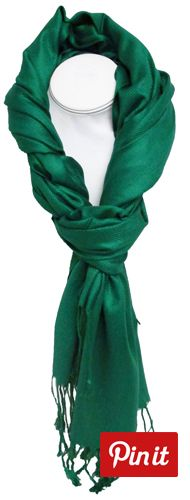 $14.00 emerald Pashmina scarf  BuyNowOrNever Cold Wear, Teacher Wardrobe, Cool Style, My Style, Pashmina Scarf, Hat Pins, Scarves, How To Make, How To Wear
