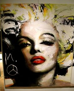 Quebec painter Joanne Corno unveiled a new show last week in SoHo.She lives in New-York Urban Icon, Pop Art, Marilyn Monroe Art, Mixed Media Canvas, Face Art, Oeuvre D'art, Figurative Art, Korn, Painting Inspiration