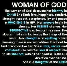 Woman of God, the Bible is still being written so submit fully to becoming an instrument of His perfect Will. It's true! Quotes French, Soli Deo Gloria, Identity In Christ, True Identity, Women Of Faith, Godly Woman, Godly Wife, Quotes About God, Bible Quotes About Friendship