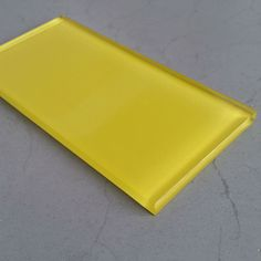 One of our most vibrant Glass Metro Tiles - Acid Yellow Boom is a colour to behold. If you are looking for a Kitchen Splash Back or Bathroom tile look no further.
