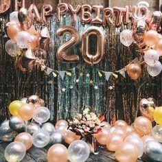 Rose gold birthday balloon decoration set birthday party decor birthday party balloons banner birthday outfit 29 new ideas birthday Birthday Balloon Decorations, Birthday Backdrop, Balloon Banner, Balloons For Birthday, Birthday Balloon Surprise, Round Balloons, Rose Gold Balloons, Heart Balloons, Confetti Balloons