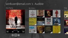 Audible // Not enough time for all the books you want to enjoy? Download the app by Audible, an Amazon company, to listen to books on the go. Immerse yourself in a great story anytime, anywhere, by downloading from a breathtaking range of 100,000+ titles to your Windows 8 device—from best sellers to classics, and everything in-between.
