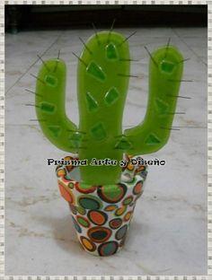 Cactus en vitrofusión
